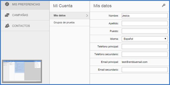Cómo Configurar Datos Personales Idioma Y Contraseña Emblue